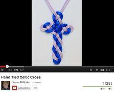 Hand Tied Celtic Cross --by--  Suzen Millodot ---on http://www.youtube.com/watch?v=LLVfixGKlrk#