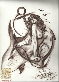 imagenes tattoo de sirenas - Buscar con Google