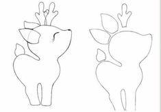 Felt Christmas decorations like me step by step crafts creative techn Felt Christmas Decorations, Felt Christmas Ornaments, Christmas Crafts, Christmas Templates, Christmas Ideas, Felt Animal Patterns, Stuffed Animal Patterns, Felt Diy, Felt Crafts