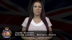 Britain First Ating Leader, Jayda Fransen has released a video message regarding Paul Golding who is currently in prison. Prison, Muslim, Britain, American, Youtube, Fringes