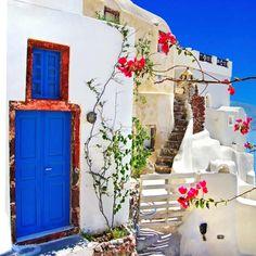 Villaggio Oia a Santorini, Grecia.