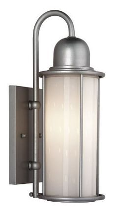 Sausalito Outdoor Wall Lantern in Vista Silver Size: Small by Philips. $59.72. F848041 Size: Small Features: -One light outdoor wall lantern.-White bubble glass.-Wet location listed. Options: -Available in small and large sizes. Color/Finish: -Vista silver finish. Specifications: -Small fixture uses one 100W medium base incandescent bulb - not included.-Large fixture uses one 150W medium base incandescent bulb - not included. Dimensions: -Overall dimensions, small: 15.75''H ...