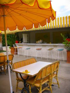 The Parker Palm Springs lemonade stand.
