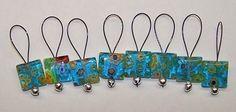 Medium Loop Snag Free Millefiori Stitch Markers by jeanettejed, $7.00