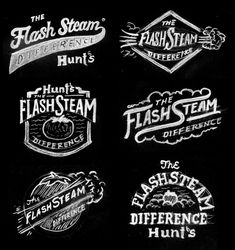 """A few years ago I worked on the branding for Hunt's """"Flash Steam"""" campaign. This is one of those jobs that yielded a ton of sketches I really loved. Sometimes it's fun to get in a groove and just keep going (even if you don't have the time for it.)"""