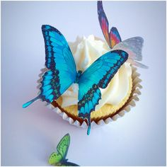 Edible Butterflies Wedding Cake Topper by TheVillageCakeCo on Etsy