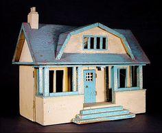 Gottschalk Doll House - Dollhouse - Primitives - Folk Art from oh on Ruby Lane
