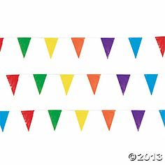 Are you looking for an eye-catching addition to your party supplies? How about giving these Multicolor Pennant Banners a try? Perfect to hang from your . Carnival Themed Party, Carnival Birthday Parties, Circus Birthday, Circus Theme, Circus Party, Birthday Ideas, 2nd Birthday, Carnival Wedding, Circus Circus