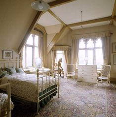 The night nursery on the second floor at Tyntesfield showing a bed, rocking horse, chest of drawers and turret room ©NTPL/Andreas von Einsiedel