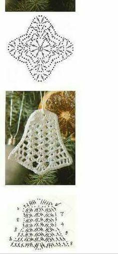 Crochet Snowflake Pattern, Crochet Snowflakes, Crochet Patterns, Crochet Christmas Ornaments, Christmas Crafts, Christmas Decorations, Xmas, Crochet Angels, Filet Crochet
