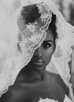 Natural hair bride, nose ring