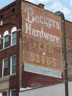 Beckers hardware ghost sign-Wheeling WV by retrosigns, via Flickr