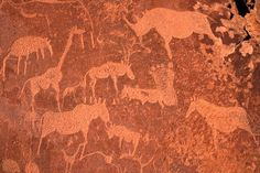 NAMIBIA- TWYFELFONTEIN –This is a site of ancient rock engravings in the Kunene Region of north-western Namibia. The site has been inhabited for 6,000 years, first by hunter-gatherers and later by Khoikhoi herders. Both groups used it as a place of worship and a site to conduct shamanist rituals. During of these rituals at least 2.500 items of rock carvings have been created, as well as a few rock paintings. UNESCO approved Twyfelfontein as Namibia's first World Heritage Site in 2007.