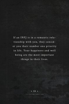 INFJ - true, and not always reciprocated...