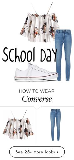 """#80"" by adi-butzlaff on Polyvore featuring Paige Denim and Converse"