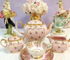 Sadler tea set and Paragon trio