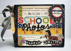 School Scrapbook, Card, or Layout