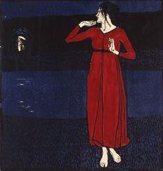 Slideshow:20th Century Color Woodcuts at Schirn Kunsthalle  Vienna Erwin Lang, Grete Wiesenthal um 1904