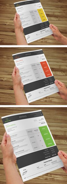 such a cute invoice template  free psd  about to make a