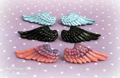 Fairy Kei, pastel goth Angel Wings Hair Clips -different variations available by PastelDreamShoes on Etsy https://www.etsy.com/uk/listing/179279209/fairy-kei-pastel-goth-angel-wings-hair