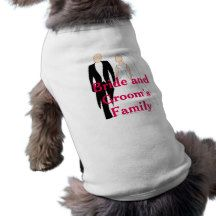 Bride and Groom's Family Doggy T-Shirt Doggie Tshirt Engagements, Drink Sleeves, Save The Date, Wedding Gifts, Groom, Weddings, Bride, Shirt, Shopping