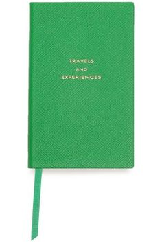 Shop Smythson Travel And Experiences Panama Printed Textured-leather Notebook In Green from stores. Smythson, Leather Notebook, Panama, Texture, Printed, Green, Travel, Stationery Shop, Surface Finish