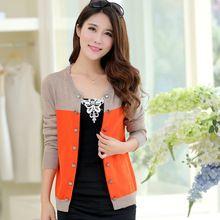 Outono e inverno as mulheres o-pescoço suéter de cashmere cardigan de malha de lã cardigan plus size design slim curto camisola(China (Mainland))
