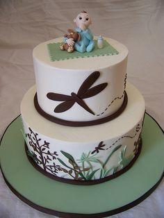 Monica's baby shower cake by Erin Salerno, via Flickr