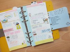 week 36- filofax yellow original (petit cochonn)