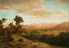 Wind River Country - Albert Bierstadt