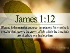 King James Version Bible Scriptures | James 1:12 – Endure Temptation Papel de Parede Imagem