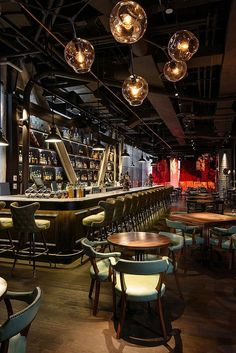 Pin Veredas Arquitetura ---- www.veredas.arq.br--- Inspiração ----Appetizing Design: New and Noteworthy NYC Restaurants | Urbo in Midtown by Savelii Archipenko and Hecho. #cafe
