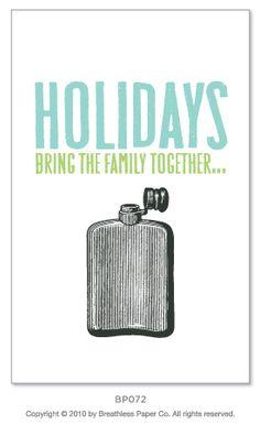 holiday greeting card, alcohol, illustration