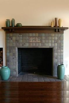 """Fireplace Tile Ideas - What does """"spectacular"""" indicate to you? Brick Fireplace Mantles, Fireplace Tile Surround, Brick Fireplace Makeover, Home Fireplace, Modern Fireplace, Fireplace Surrounds, Fireplace Design, Fireplace Ideas, Fireplace Fronts"""