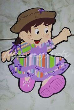 """Painel junino em eva: """"matutinha"""". Tamanho: 60cm"""