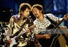 Jan 1990 Bob Dylan and Bruce Springsteen