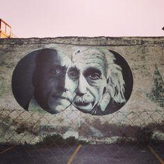 street art einstein Amazing by Installation Street Art, Art And Illustration, Athens City, Athens Greece, Urbane Kunst, Instalation Art, Sidewalk Art, Draw On Photos, 3d Painting