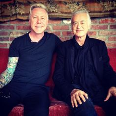 Jimmy Page (right) photographed in NYC May 14, 2014.