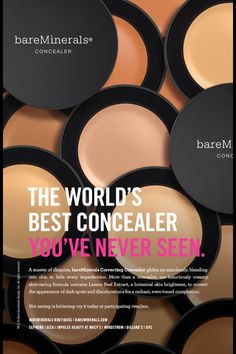 Bare minerals concealer. No settling into under eye creases, no reverse raccoon eyes. Just creamy super blendable coverage