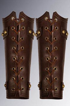 Leather Arm Guard Braces Handmade and Fastened by YourDressmaker 80fc4e99fd