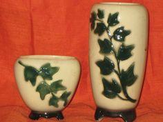 Vintage Matching Vases/Vintage Asian Vases/Vintage Ceramic Vase/Ivy Vases by iLikeEclectic on Etsy
