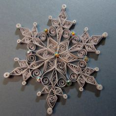 Snowflake Ornament by HeirloomQuilling on Etsy, $17.00