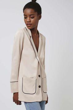 Veste style pyjama en satin - Vestes et manteaux - Vêtements - Topshop