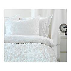 OFELIA VASS Funda nórd y 2 fundas almohada - blanco, 240x220/50x60 cm - IKEA