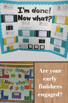 The Early Finisher Board provides engaging, curriculum-related tasks for… Year 1 Classroom, Ks2 Classroom, Future Classroom, Classroom Activities, Primary Classroom Displays, Anchor Activities, Classroom Ideas, Primary Teaching, Teaching Tools