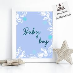 Baby Boy Wall Art, Instant Download Printable, Poster Boys Nursery Room Decor.Perfect as a gift for new parents or just for your own little one. #interiordesign #printables #nursery #minimalist #kidsroom #gift #blue #homedecor #mumlife #wallart #etsy #etsyshop #digitaldownload #playroom Nursery Room, Nursery Wall Art, Baby Boys, Printable Poster, Minimalist Nursery, Boy Wall Art, Poster Boys, Gifts For New Parents, Playroom Decor