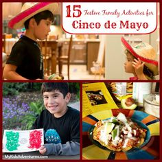 Celebrate Cinco de Mayo with 15 fun and festive activities you and your family can do to experience the Mexican culture and tradition at @My Kids' Adventures