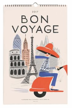 2017 Bon Voyage Calendars designed by Anna Bond for Rifle Paper Co.  Available at Northlight soon.