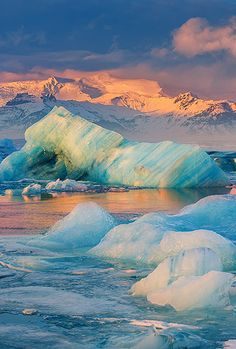 Jokulsarlon, Iceland by Henk Meijer --- @shabree78 this is the Glacier Lagoon Chief Oddo was mentioning. Looks easy to get to and nearby some of the other places listed to see :D