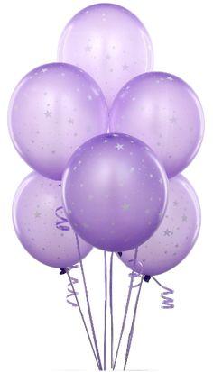 Transparent Balloons Purple Clipart